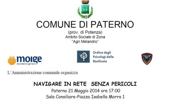 CONVEGNO Paterno (Pz)  – 21 maggio 2014