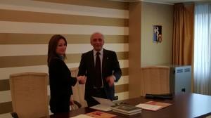 La dott.ssa Luisa Langone e il dott. Rocco Paternò