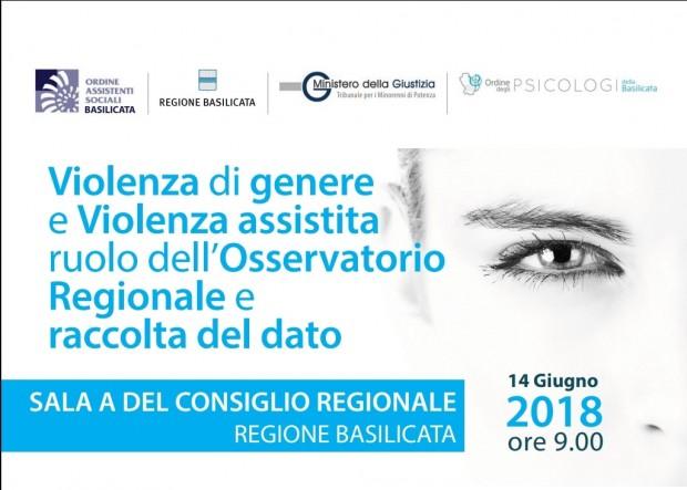 Violenza di genere e Violenza assistita ruolo dell'Osservatorio Regionale e raccolta del dato