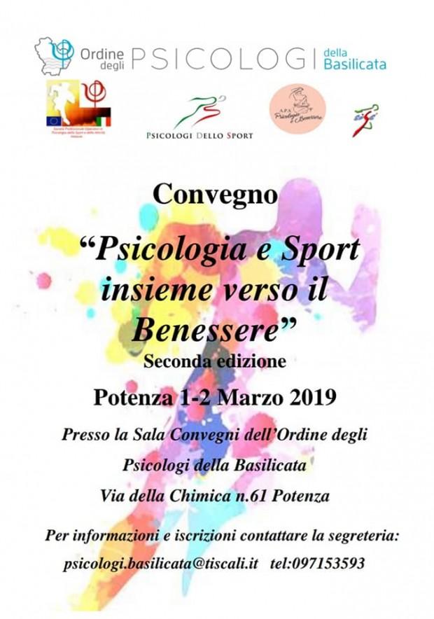 """Convegno """"Psicologia e Sport insieme verso il benessere"""" – 2° edizione"""