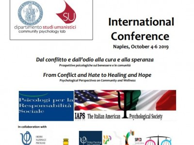 "Convegno Internazionale ""From conflict and Hate to Healing and Hope"""