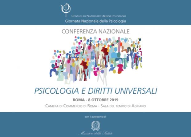 """Conferenza nazionale CNOP """" Psicologia e Diritti Universali- 8 ottobre 2019"""