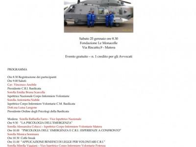 Seminario sulla Psicologia dell'emergenza